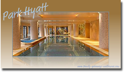 The Park Hyatt luxury in-house swimming pool