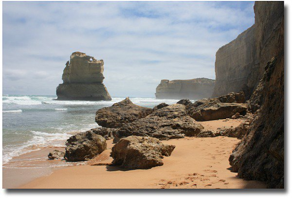 At the base of the 12 Apostles beach