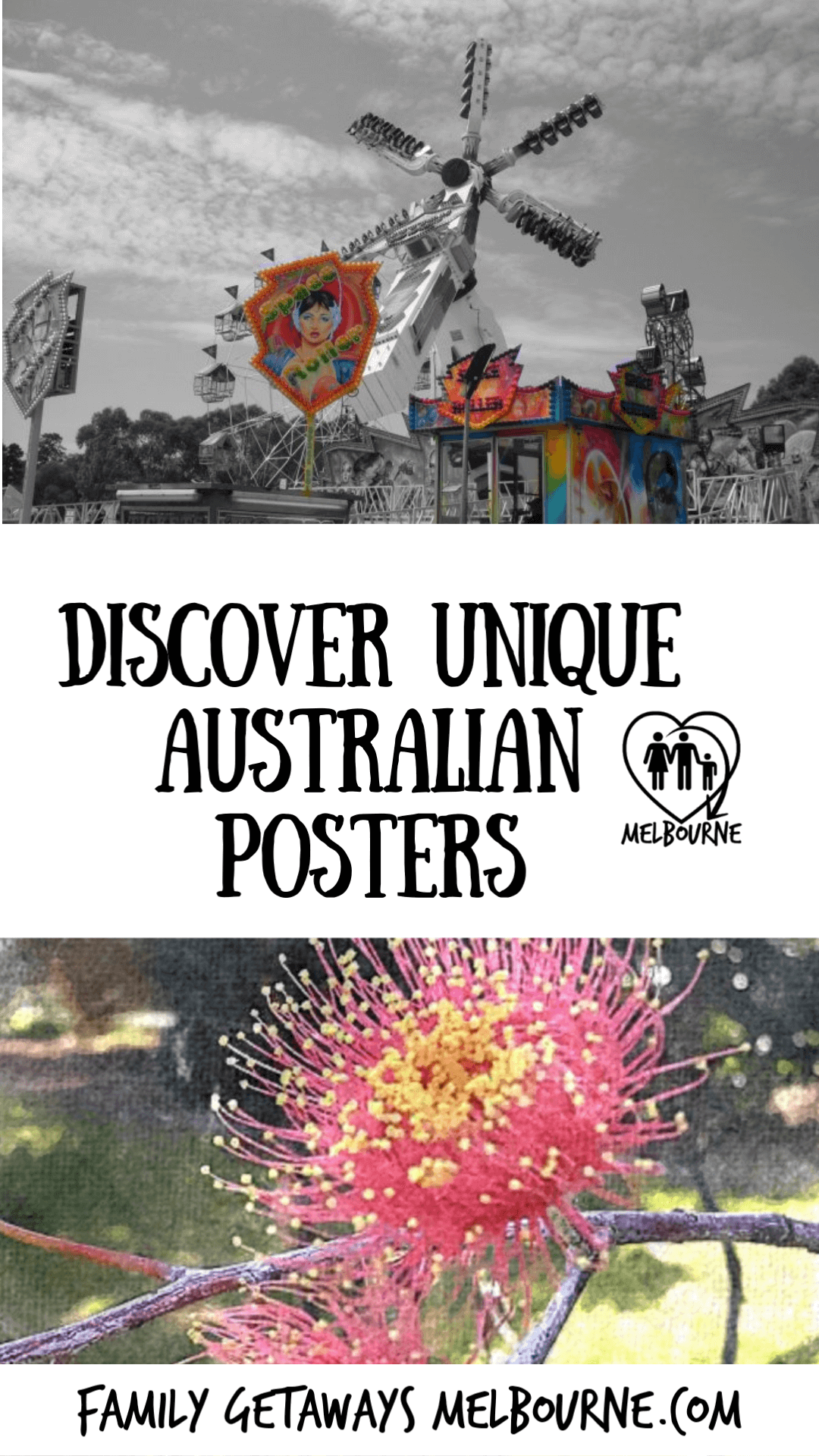 Image to pin to Pinterest for the site page on Australian posters