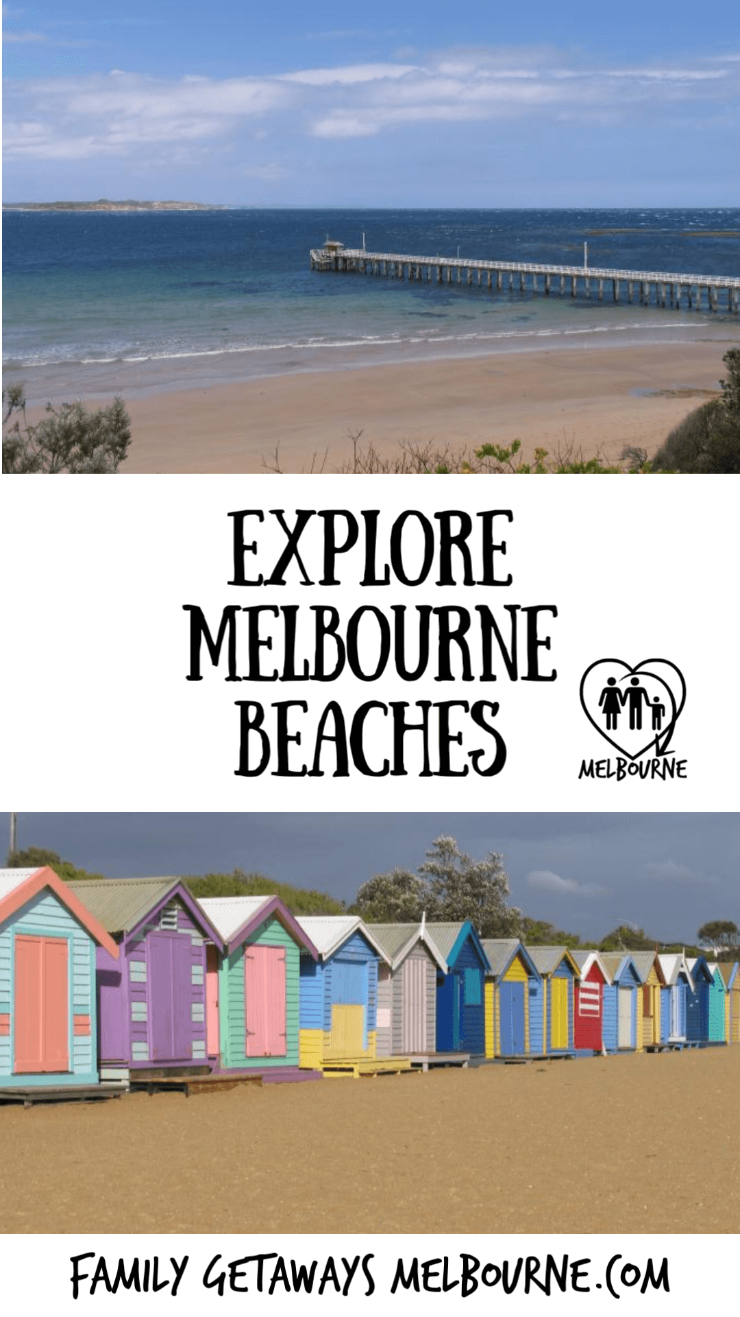 Pinterest pin for site page on Top beaches around Melbourne