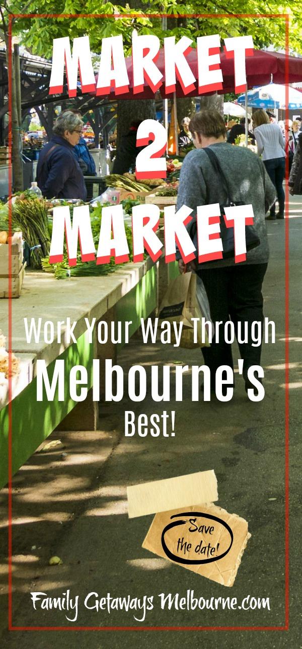 Melbourne markets Pinterest pin