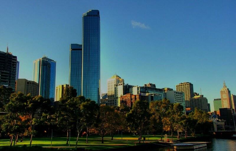 The two Rialto Towers in Melbourne Australia