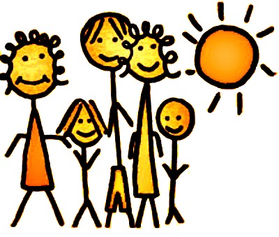 Happy family in the sun icon image