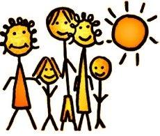 Happy family in the sun icon image