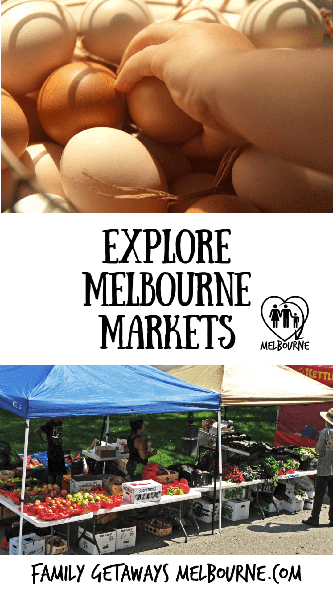 Melbourne markets Pinterest pin