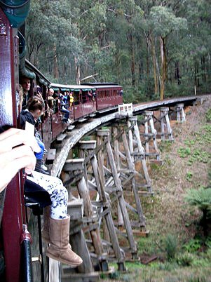 Riding the Puffing Billy Train
