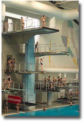 Diving at the Melbourne City Baths