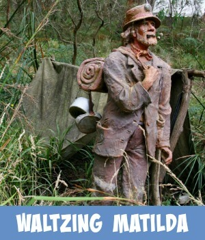 image link to site page on the legendary song, Waltzing Matilda