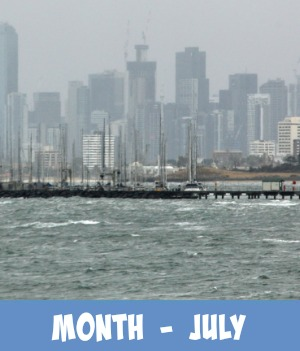 Image link to site page on Melbourne's weather in July