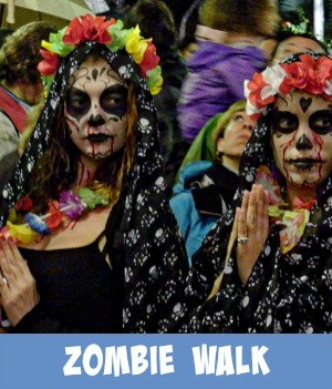 Image link to site page on the yearly Zombie walk