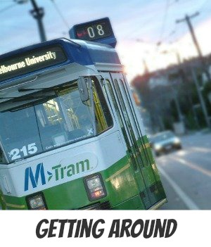 getting around Melbourne image link to Site page