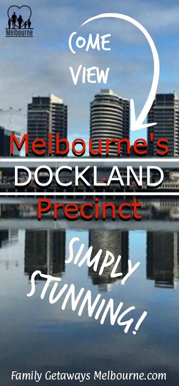 Melbourne Docklands image to pin onto Pinterest