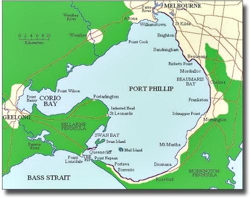 Map of Port Phillip Bay