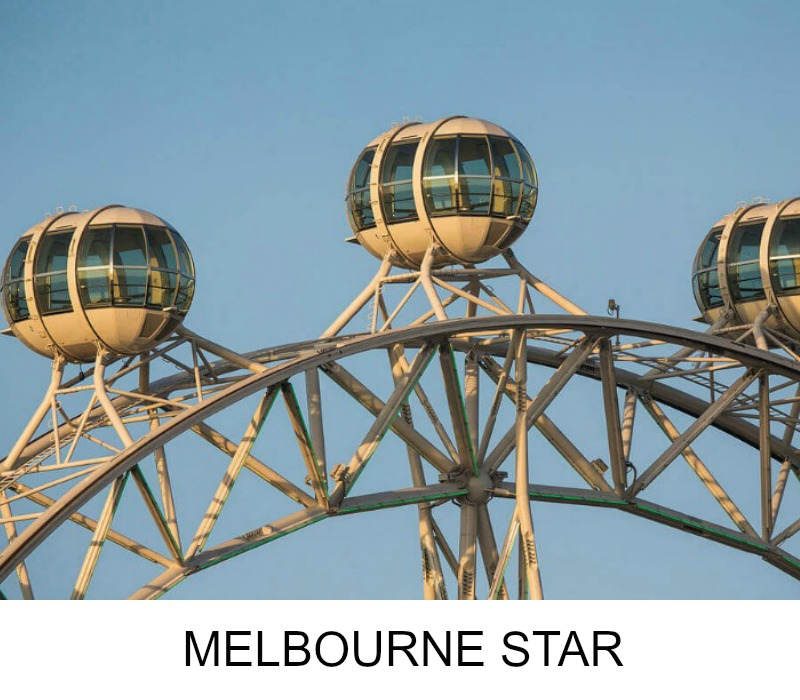 Image link to site page for more information on the Melbourne's Star observation wheel