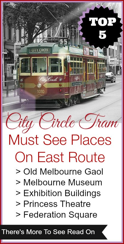 The Top 5 City attractions along the eastern City Circle Tram route