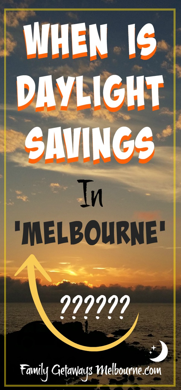 Daylight savings time in Melbourne Pinterest pin