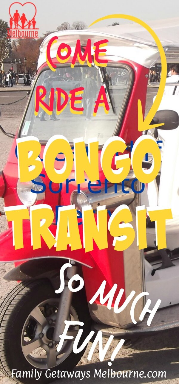 image to pin to Pinterest for the page on the Bongo Transit shuttle service