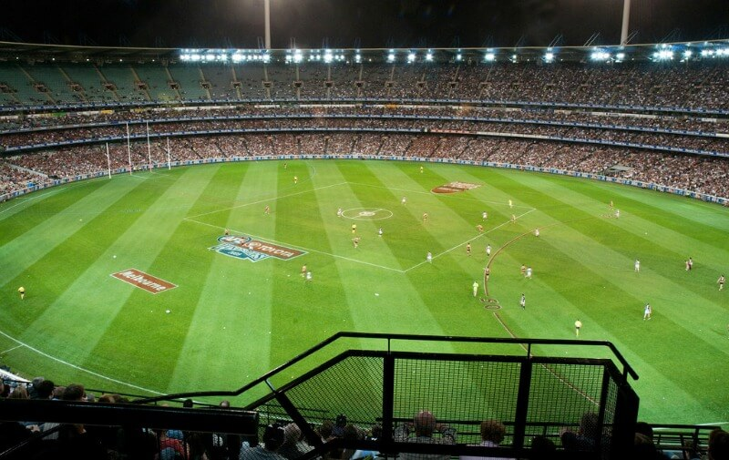 Australian Rules Football played at the MCG compliments of http://www.flickr.com/photos/hradcanska/3955182041/