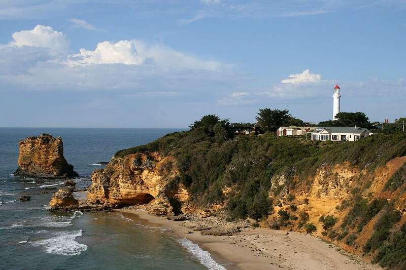 Split Point Lighthouse at Aireys Inlet by Mike Lehmann, Mike Switzerland 09:31, 2 April 2007 (UTC) - Own work, CC BY-SA 3.0, https://commons.wikimedia.org/w/index.php?curid=1879720