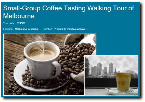 small group coffee tasting tour image