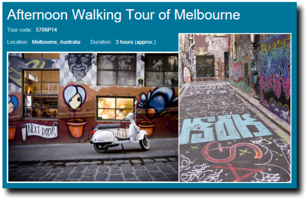 Afternoon melbourne walking tour image