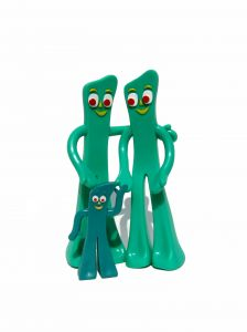 Plasticine figures of Mum, Dad and the kid