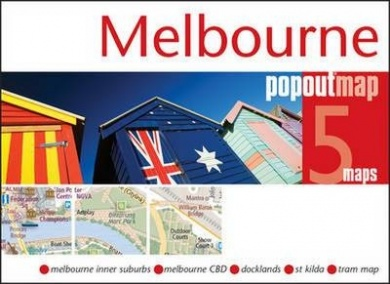 Melbourne city pop out map