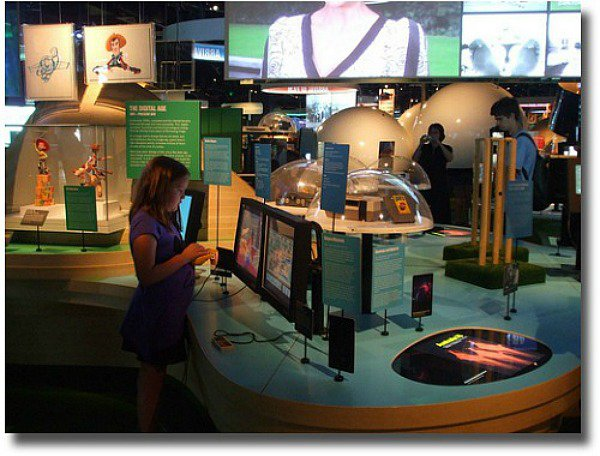 Inside ACMI at Federation Square Melbourne, Australia compliments of http://www.flickr.com/photos/vivevans/4290001594/