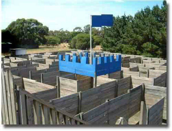 Castle Maze in Queenscliff just  1 and 1/2 hours south of Melbourne