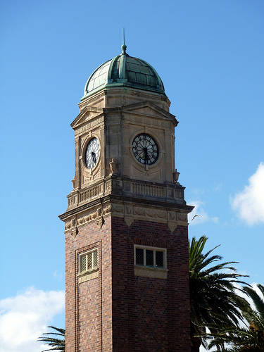 Catani Clock Tower St Kilda foreshore comliments of http://www.flickr.com/photos/73014677@N05/6590681649/
