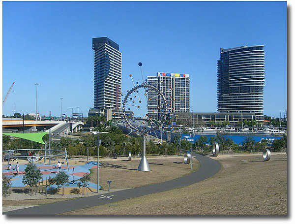 Docklands Park in Melbourne-Australia compliments of http://www.flickr.com/photos/deeob/426419861/