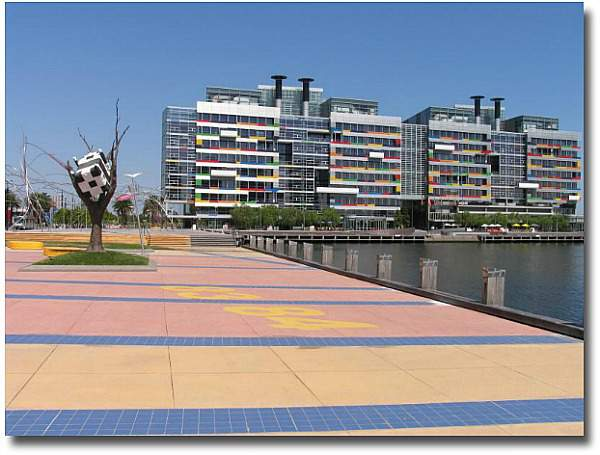Melbourne Docklands compliments from my English mate Steve