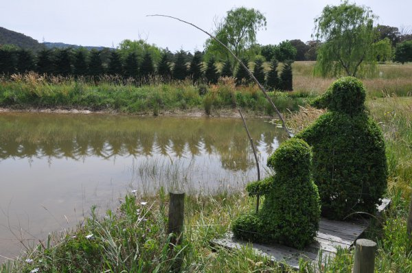 High Country Maze 'Gone Fishing' hedge sculpture