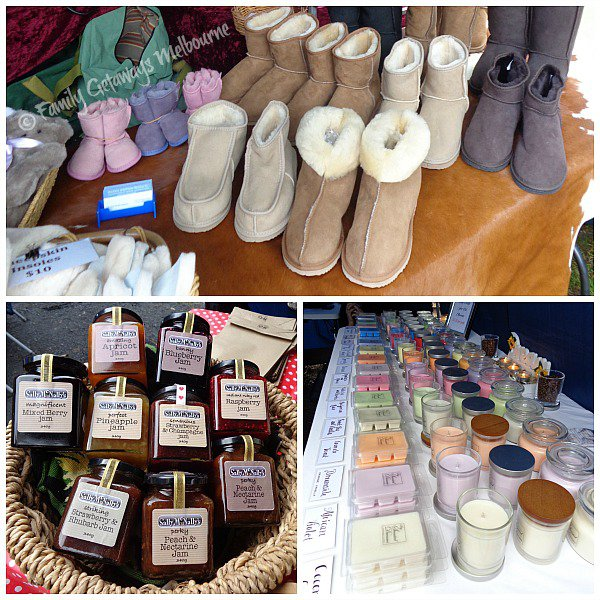 Different stalls selling at the gembrook Market just east of Melbourne, Australia