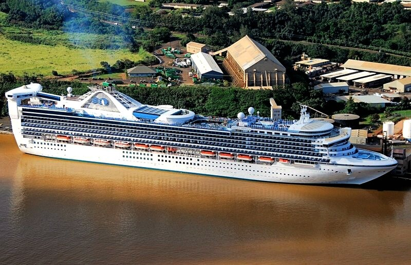 The Golden Princess Cruise Liner
