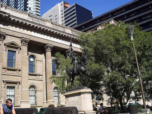 Jeanne d'Arc (Joan of Arc) State Library Of Victoria Melbourne Australia compliments of www.flickr.com/photos/patrob/2225837556/