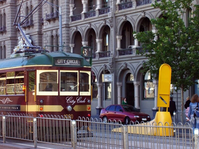 The Free to ride City Circle Tram Melbourne Australia