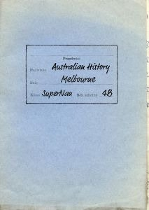 old work folder for Australian History