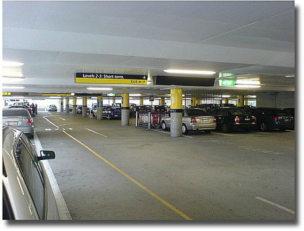 Undercover carpark at the melbourne Airport Melbourne Australia compliments of http://www.flickr.com/photos/dwz/485955243/