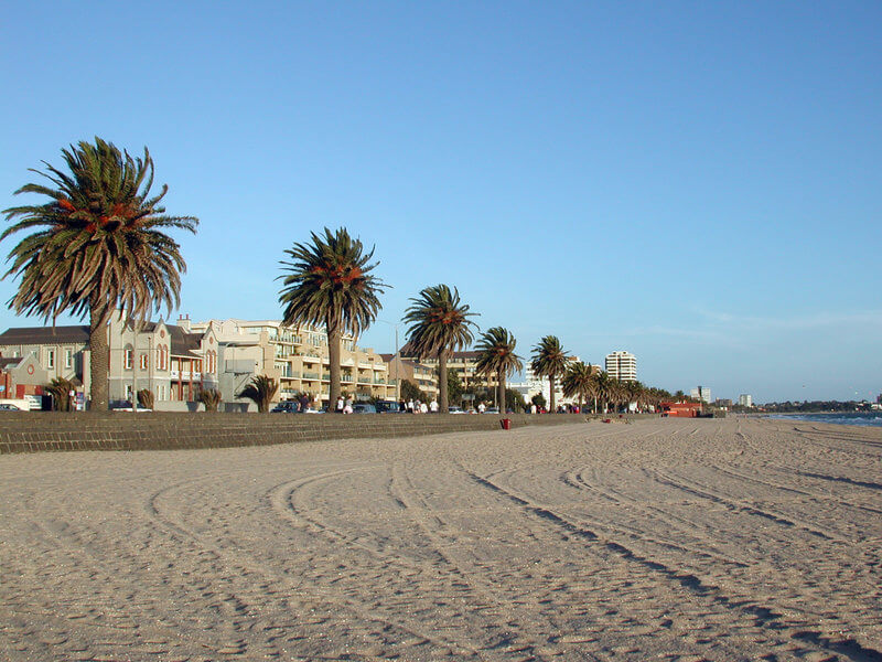 Port Melbourne Dog Beach in Victoria Australia