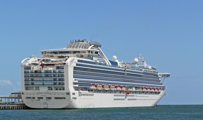 Sapphire Princes Docked at Station Pier Port Melbourne