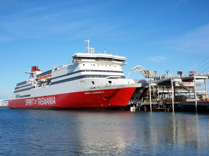 Spirit of Tasmania docked at Station Pier, Port Melbourne in Victoria, Australia