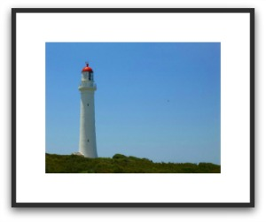 Point Lonsdale lighthouse poster framed