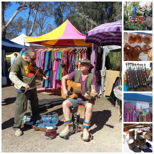 Busking and selling at the St Andrews Market, Melbourne - Australia