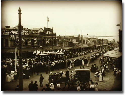 Tramway opening in geelong 1912