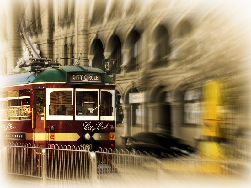 The City Circle Tram operates as a free tourist shuttle around the Melbourne CBD
