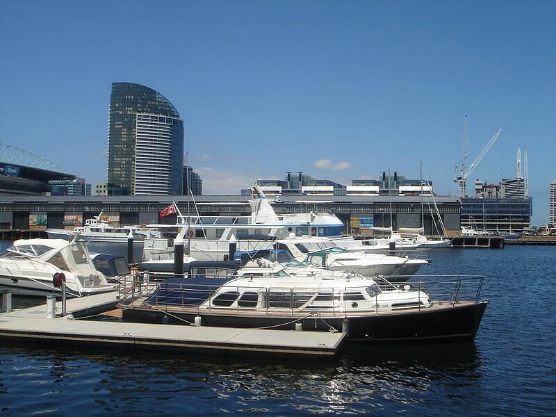 Victoria Harbour boats Docklands Melbourne, Australia