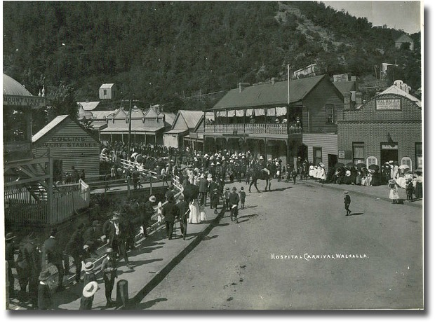 Hospital Street Carnival Walhalla, Victoria - Australia circa 1900's