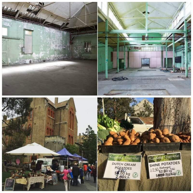 Collage of images from the Abbotsford Convent