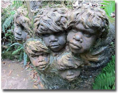 Aboriginal children's sculpture at William Ricketts Sanctuary Mount Dandenong Melbourne Australia compliments of http://www.flickr.com/photos/jupiterfirelyte/6897611528/